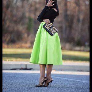 Choies bloggers favorite skirt neon color